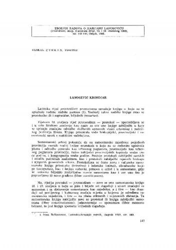 Lanosovićev kroničar / P. Cvekan