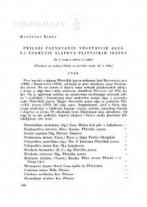 Prilozi poznavanju vegetacije alga na području slapova Plitvičkih jezera / E. Marčenko