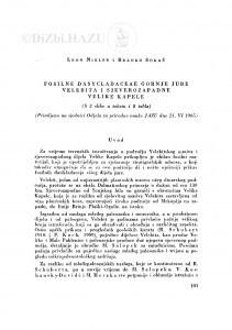 Fosilne Dasycladaceae gornje jure Velebita i sjeverozapadne Velike Kapele / L. Nikler i B. Sokač