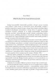 Protuslovni nacionalizam / Ivan Prpić