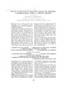 Misal čazmanskog prepošta Jurja de Topusko i zagrebačkog biskupa Šimuna Erdödy / D. Kniewald