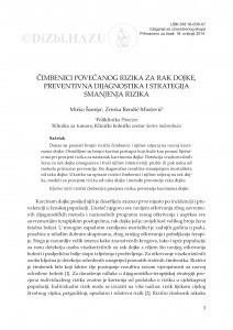 Čimbenici povećanog rizika za rak dojke, preventivna dijagnostika i strategija smanjenja rizika / Mirko Šamija, Zrinka Rendić-Miočević