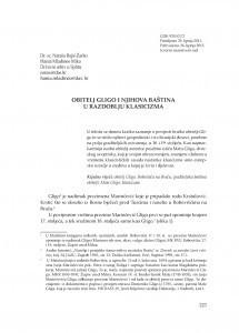 Obitelj Gligo i njezina baština u razdoblju klasicizma / Nataša Bajić-Žarko; Hania Mladineo Mika