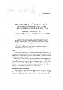 Translacijska istraživanja u području molekularne biologije raka dojke - nova dostignuća i klinička primjena / Sonja Levanat, Mirela Levačić Cvok