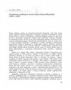Osamdeseta godišnjica života slikara Omera Mujadžića (1903-1983) / Ivan Šimat Banov