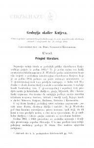 Geologija okolice Kutjeva / D. Gorjanović-Kramberger