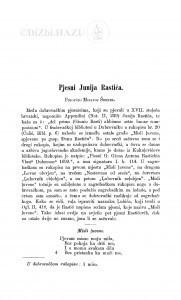 Pjesni Junija Rastića / Milivoj Šrepel