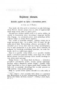 Kritički pogled na djela o slavenskom pravu : [književna obznana] / J. Hanel