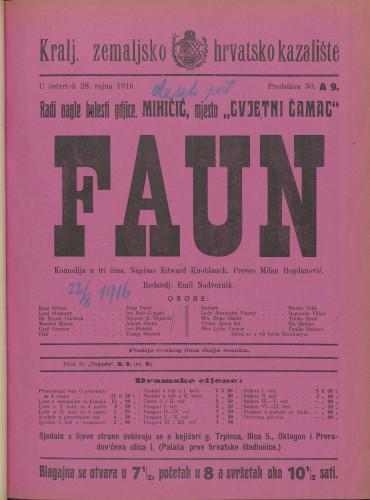 Faun Komedija u tri čina / Edward Knoblauch