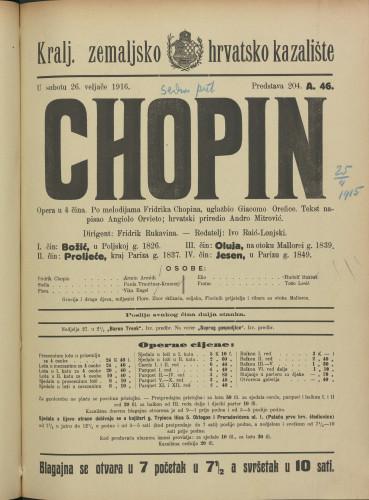 Chopin Opera u 4 čina