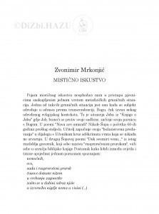 Mistično iskustvo / Zvonimir Mrkonjić