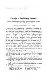 Alegorije u Gundulićevoj Osmanidi / L. Zore
