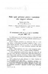 Naše opće privatno pravo i nastojanja oko njegove reforme (III. i IV. dio) / Ivan Maurović