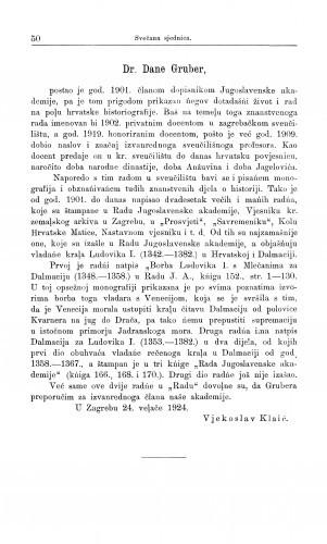 Dr. Dane Gruber / V. Klaić
