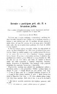 Rečenice s participom pret. akt. II. u hrvatskom jeziku / A. Musić