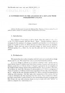 A contribution to the analysis of a biplane with parameters (154, 18, 2) / E. Kramer
