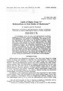 Lipids of higher fungi. X. Hydrocarbons in fruit bodies of mushrooms / Z. Jandrić, M. Proštenik