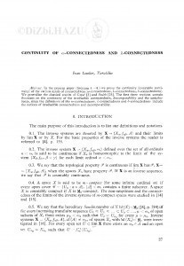Continuity of ω-connectedness an λ-connectedness / I. Lončar