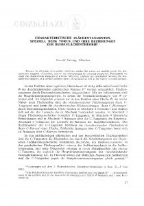 Characteristische Flächentangenten, speziell beim Torus und ihre Beziehungen zur Regelflächentheorie / O. Giering