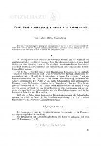 Ueber zwei altbekannte Klassen von von Raumkurven / H. R. Müller