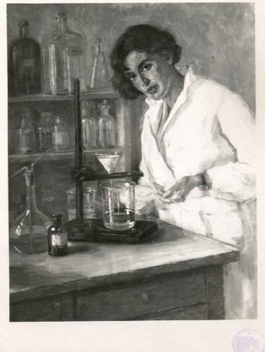 Rojc, Nasta(1883-1964): Žena u laboratoriju ]