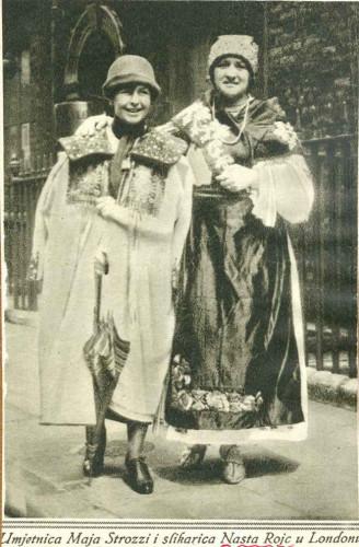 Umjetnica Maja Strozzi i slikarica Nasta Rojc u Londonu - ilustracija iz članka