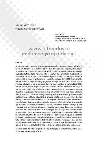 Izazovi i trendovi u multimedijskoj didaktici