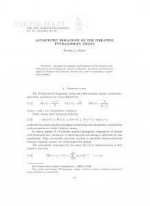 Asymptotic behaviour of the iterative Pythagorean means / Tomislav Burić