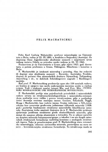 Felix Machatschki