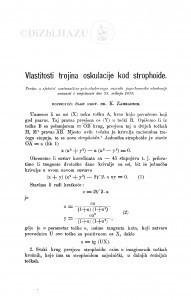 Vlastitosti trojina oskulacije kod strophoide / K. Zahradnik
