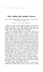 Etički sadržaj naših narodnih poslovica / F. Marković