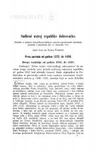 Sudbeni ustroj republike dubrovačke / K. Vojnović
