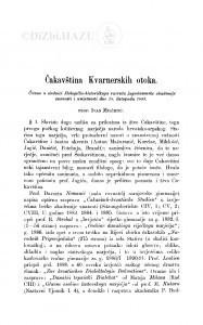 Čakavština Kvarnerskih otoka / I. Milčetić