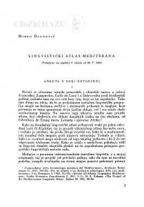 Lingvistički atlas Mediterana / M. Deanović