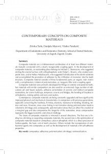 Contemporary concepts on composite materials / Zrinka Tarle, Danijela Marović, Vlatko Pandurić