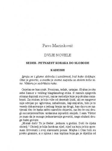 Dvije novele / Pavo Marinković