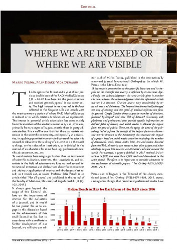 Where we are indexed or where we are visible? / Marko Pećina, Filip Đerke, Vida Demarin