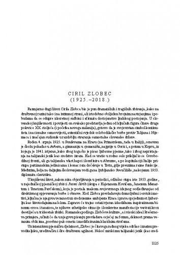Ciril Zlobec (1925.-2018.) : [nekrolog] / Tonko Maroević