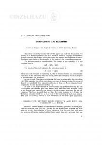 Bond lenght and reactivity / Z. G. Szabo and I. Konkoly Thege
