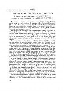 Species-hibridizacija roda Triticum : II. Pojava novih boja pljeva i osja / S. Borojević