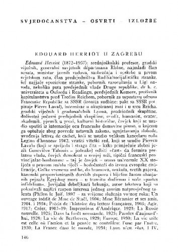 Edouard Herriot u Zagrebu / Z. Šenoa