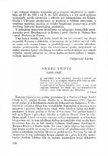 Andre Lhote (1885 - 1962) / Lj. B.