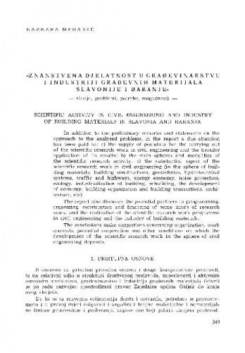 Znanstvena djelatnost u građevinarstvu i industriji građevinskih materijala Slavonije i Baranje / Barbara Medanić