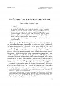 Mišićno-koštana prezentacija akromegalije / Zoja Gnjidić, Simeon Grazio
