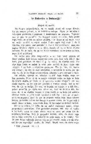 Iz Bukovice u Dalmaciji : mańi prinosi / V. Ardalić