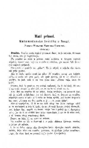 Muhamedanska ženidba u Bosni / M. F. beg Kulinović