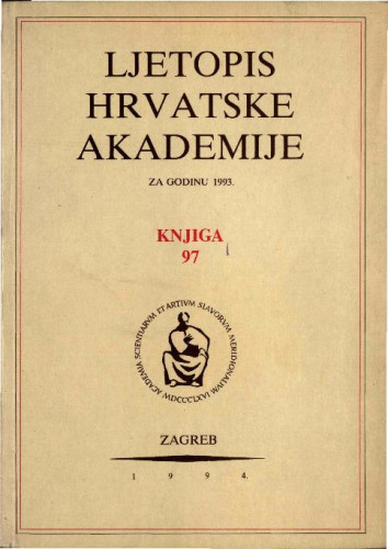 1993. Knj. 97 / urednik Milan Moguš