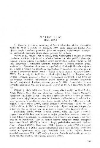 Matko Peić (1923.-1999.) / Dubravko Jelčić