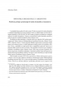 Hrvatska dramatika u Argentini : pozitivan primjer promicanja hrvatske dramatike u inozemstvu / Nikolina Židek