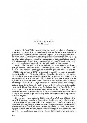 Josip Tišljar (1941.-2009.) : [nekrolog] / Vladimir Majer